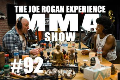 Cover art for JRE MMA Show #92 with Angela Hill