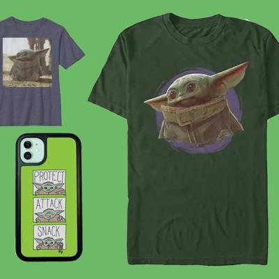 Cover art for Basic the Baby Yoda merch is
