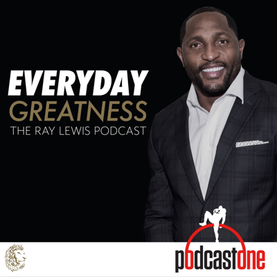 """Pro Football Hall of Famer Ray Lewis is one of the most dominating defensive players in NFL history. He led the Baltimore Ravens for the entirety of his 17-year career, including two Super Bowl championships.  Through compelling interviews and sharing personal stories and life lessons – both on and off the field, """"Everyday Greatness: The Ray Lewis Podcast"""" is an opportunity to join the former NFL linebacker in his life-long quest to understand what inspires and motivates GREATNESS.  Throughout his life, Ray is known for devoting his time to those in need, giving guidance to the masses, and meeting people exactly where they are, and you can expect the same devotion to his listeners."""
